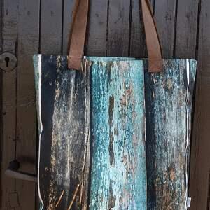 brązowe na ramię deski torba mr m old wood / uszy skóra