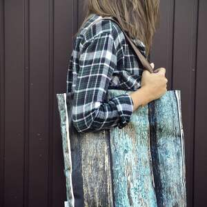 oryginalna na ramię turkusowe torba mr m old wood / uszy skóra