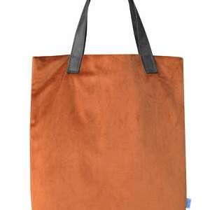 hand made na ramię torba mr. m velvet terakota/uszy