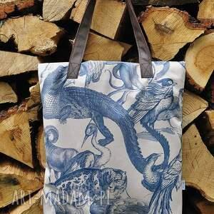 efektowne na ramię torba mr m vintage animals / uszy
