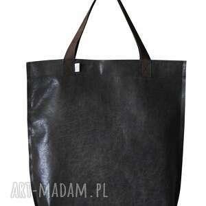 niebanalne na ramię torba mr m vintage czarna skóra