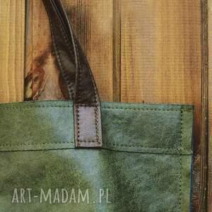 ręczne wykonanie na ramię miejska torba mr m vintage green skóra