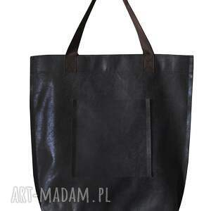 miejska na ramię torba mr m vintage czarna skóra