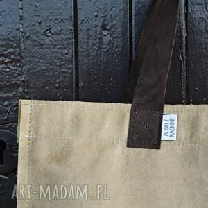 na ramię miejska torba mr m vintage cappuccino skóra