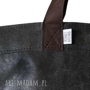 szare na ramię torba mr m vintage czarna skóra