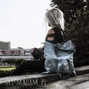 handmade na ramię torba bawełniana metamorfoza s/xl