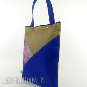 handmade na ramię miejska torba serenity blue