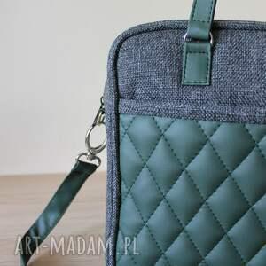 prezent na święta elegancka torba miejska - tkanina antracyt