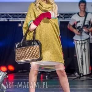 pomysł na prezent świąteczny torba miejska - tkanina szara
