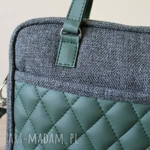 prezent na święta pakowna torba miejska - tkanina antracyt