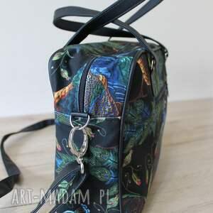 pomysł na prezent torba miejska - pawie