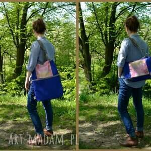 hand-made na ramię miejska torba składana z serii duo
