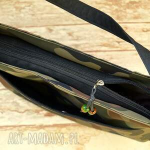 brązowe na ramię camo torba moro z kieszenią
