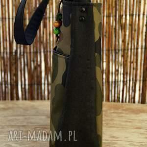 torebka na ramię zielone torba moro z kieszenią