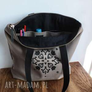 unikatowe na ramię torba wodoodporna na zamek z autorskim wzorem