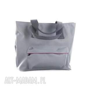 ręcznie robione na ramię torba rowerowa romania jasno szara