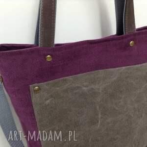 torba na ramię fioletowe ramię, do ręki