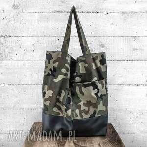 gustowne na ramię torba na zamek pojemna oversize shopper w stylu