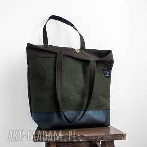zielone na ramię wytrzymala torba shopper