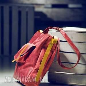 handmade na ramię torba na ramie skórzana