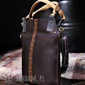 brązowe na ramię torebki torba skórzana ręcznie robiona