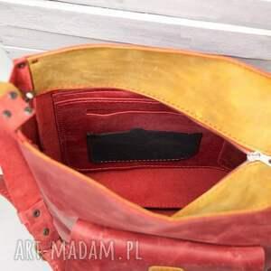 handmade na ramię torba-na-ramie torba skórzana
