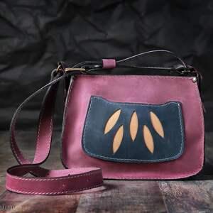 hand made na ramię torba skórzana, torebka
