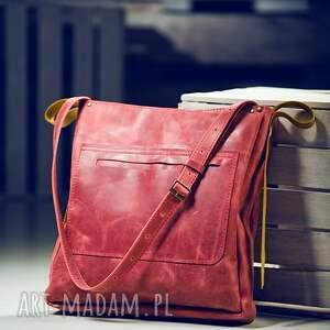 handmade na ramię torba skórzana