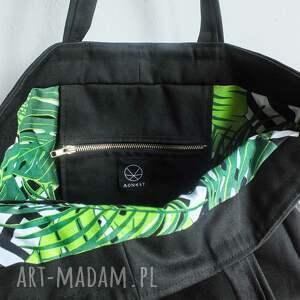 na ramię torba ekologiczna pojemna miejska na ramie o prostym