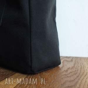 czarne na ramię torba prosta slow