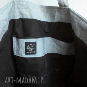 hand made na ramię torba vegan pojemna miejska na ramie o prostym kroju