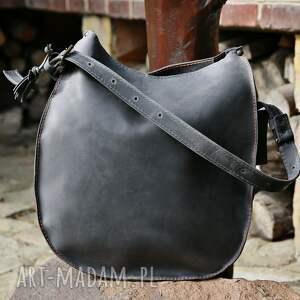 na ramię torebka torba skórzana podkowa