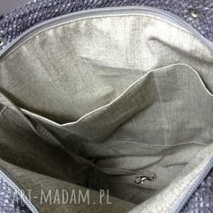 niebieskie na ramię torebka torba