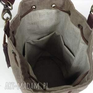 brązowe na ramię torba, sakwa
