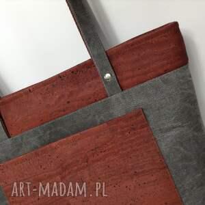 szare na ramię torebka torba