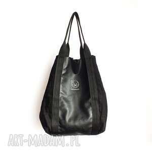 handmade na ramię ekologiczna torba torebka xxl z konpi