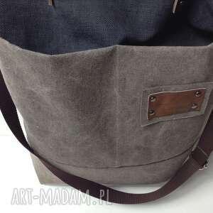 szare na ramię torebka torba ramię, listonoszka.
