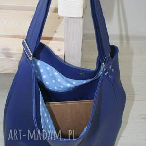 na ramię torebka torba, torebka, niebieski skaj