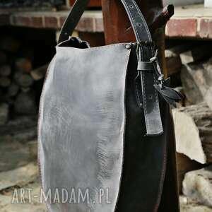 na ramię torba skórzana torebka podkowa