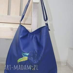 gustowne na ramię torba torba, torebka, niebieski skaj