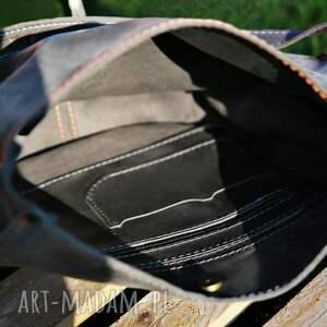 torebka na ramię torba skórzana podkowa