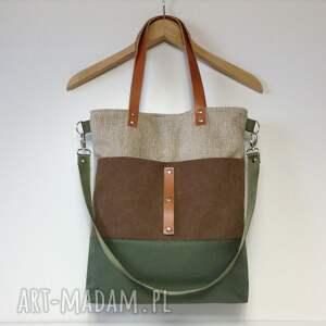 brązowe na ramię torebka torba ramię, do ręki