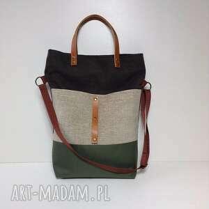 zielone na ramię torebka torba ramię, do ręki.