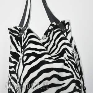 d5560705cca8e nietuzinkowe na ramię tote torba xxl - zebra