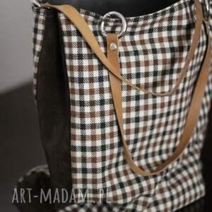 urokliwe na ramię torba z tkaniny wełnianej, połączona