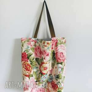 torba na ramię różowe w kwiaty xxl