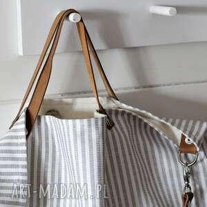 handmade na ramię torba w paski