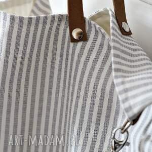 białe na ramię torba w paski