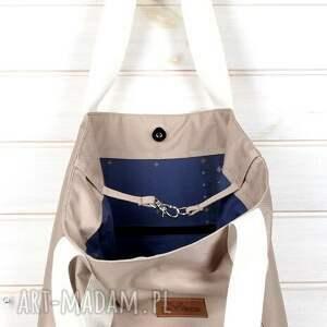 beżowe na ramię pojemna torba 2w1 wodoodporna kawa