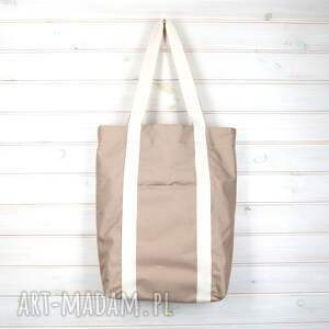 hand made na ramię torba 2w1 pojemna wodoodporna kawa
